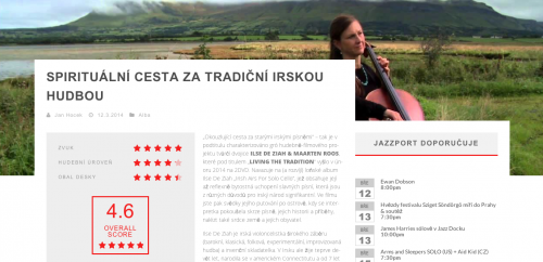 Music reviewer Jan Hocek from the Czech Republic reviews Living the Tradition